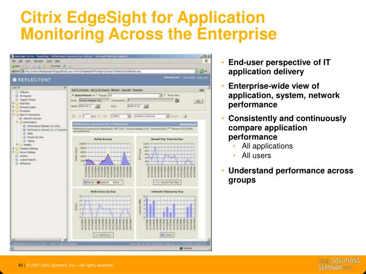 Citrix EdgeSight for Application Monitoring Across the Enterprise