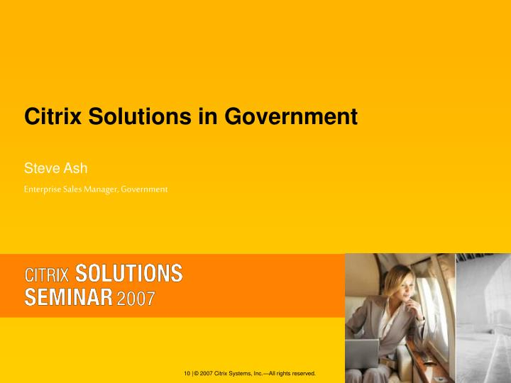 Citrix Solutions in Government