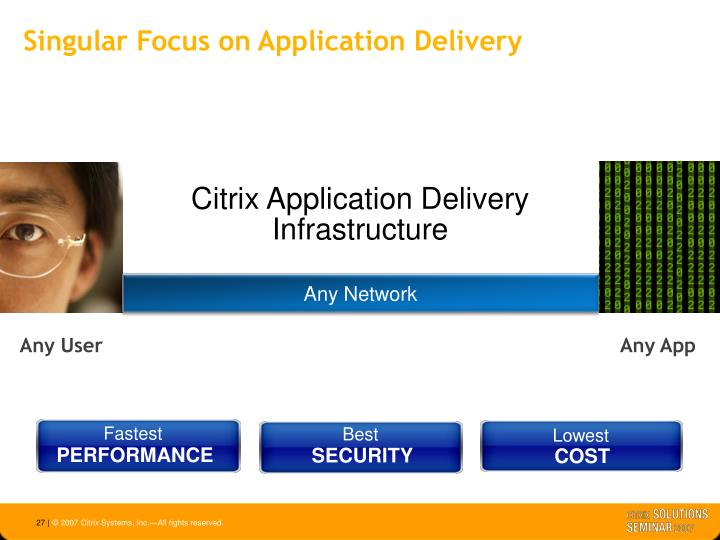 Singular Focus on Application Delivery
