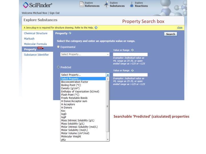 Property Search box