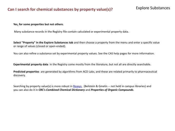 Explore Substances