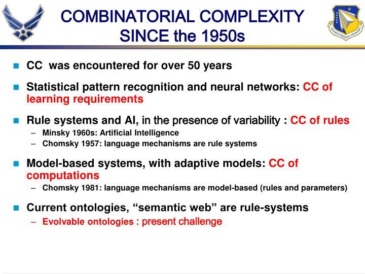 COMBINATORIAL COMPLEXITY