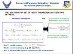 concurrent parameter estimation signature association nmf iterations