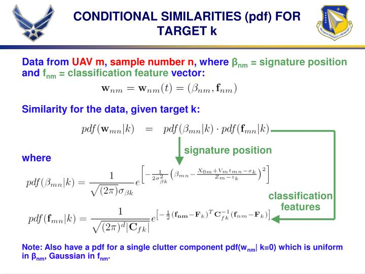 CONDITIONAL SIMILARITIES (pdf) FOR TARGET k