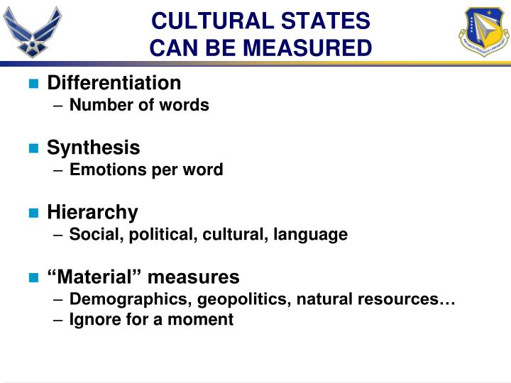CULTURAL STATES