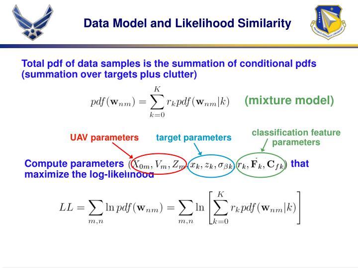 Compute parameters                                                             that maximize the log-likelihood