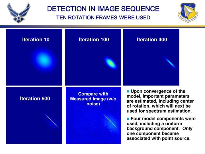 DETECTION IN IMAGE SEQUENCE