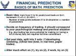 financial prediction basics of math prediction