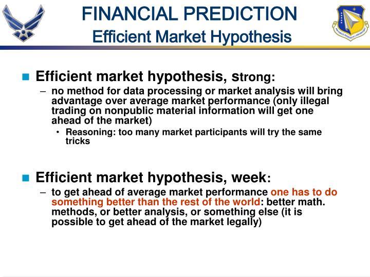FINANCIAL PREDICTION