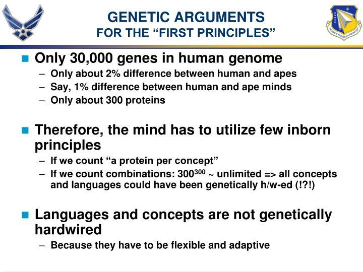 GENETIC ARGUMENTS