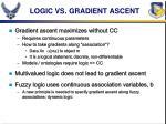 logic vs gradient ascent