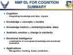 nmf dl for cognition summary