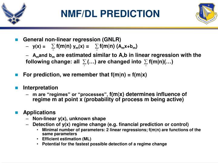 NMF/DL PREDICTION