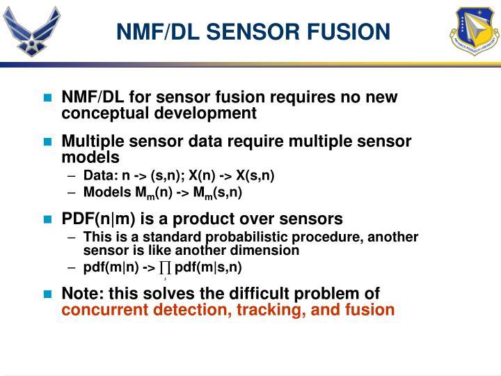 NMF/DL SENSOR FUSION