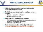nmf dl sensor fusion