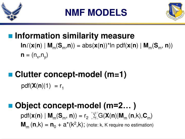 NMF MODELS