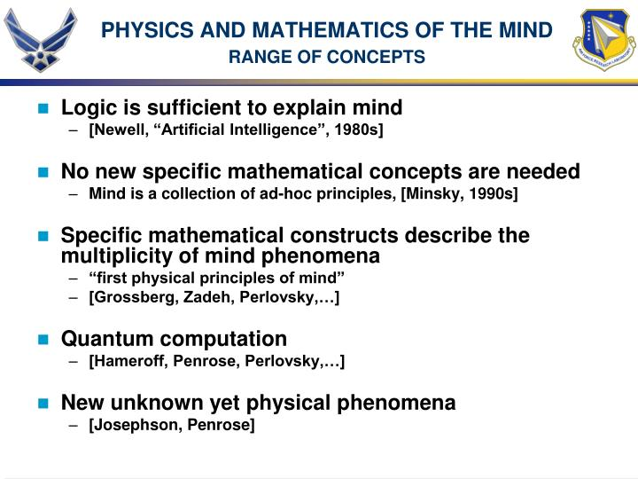 PHYSICS AND MATHEMATICS OF THE MIND