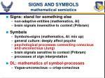 signs and symbols mathematical semiotics