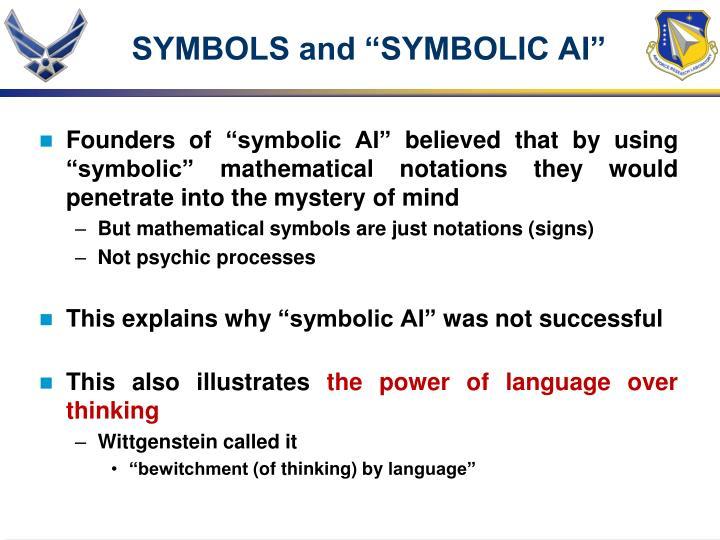 "SYMBOLS and ""SYMBOLIC AI"""
