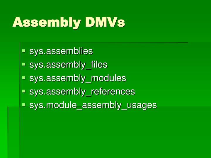 Assembly DMVs