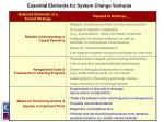 essential elements for system change ventures3