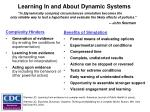learning in and about dynamic systems1