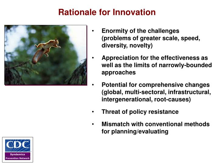 Rationale for Innovation