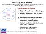 revisiting the framework