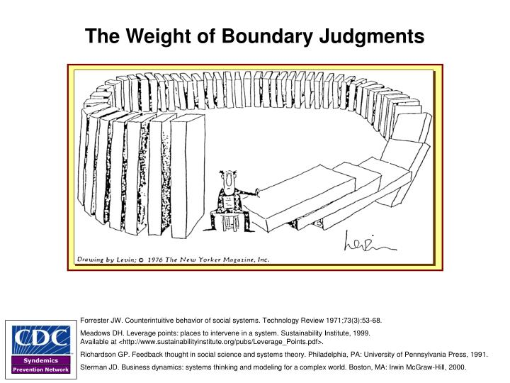 The Weight of Boundary Judgments