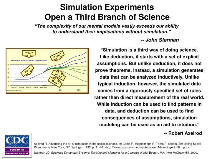 """Simulation is a third way of doing science."