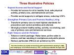 three illustrative policies