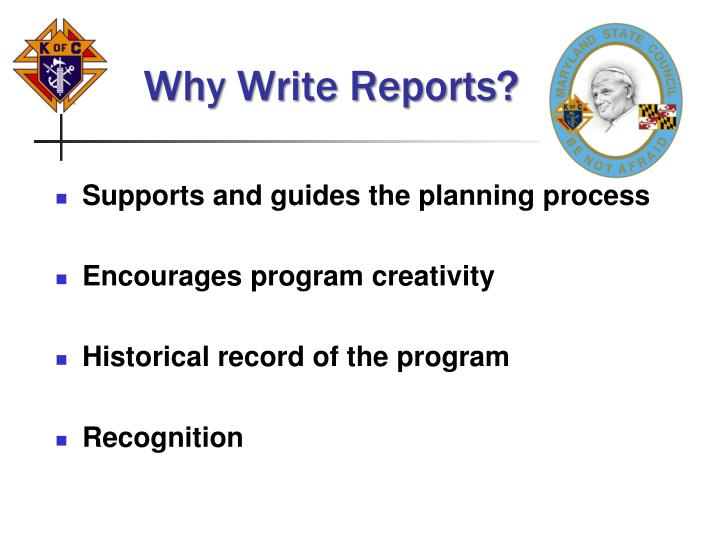 Why write reports