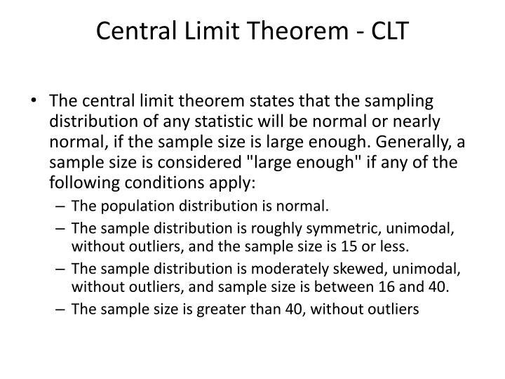Central Limit Theorem - CLT