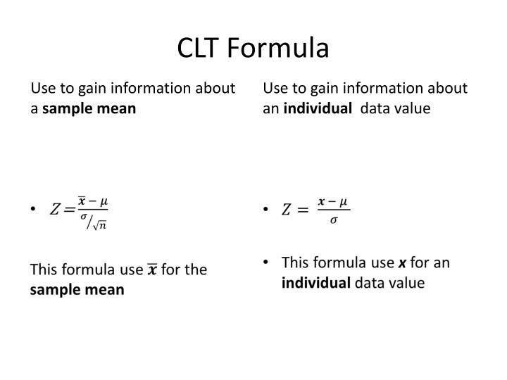CLT Formula