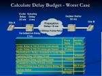 calculate delay budget worst case