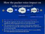 how the packet voice impact on echo perception