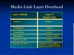 media link layer overhead
