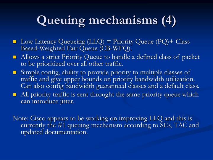 Queuing mechanisms (4)