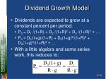 dividend growth model