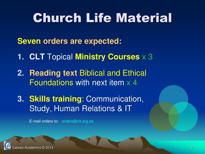 Church Life Material