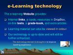 e learning technology