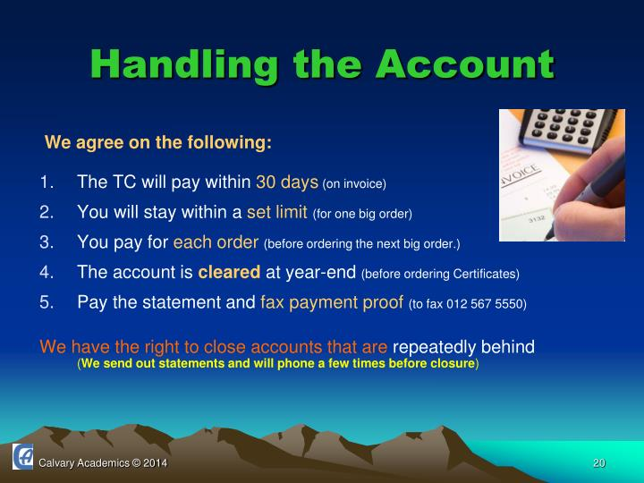 Handling the Account