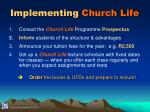 implementing church life