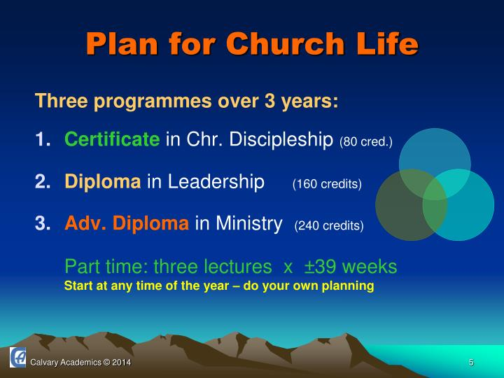 Plan for Church Life