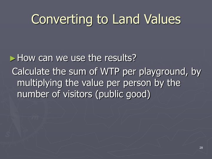 Converting to Land Values