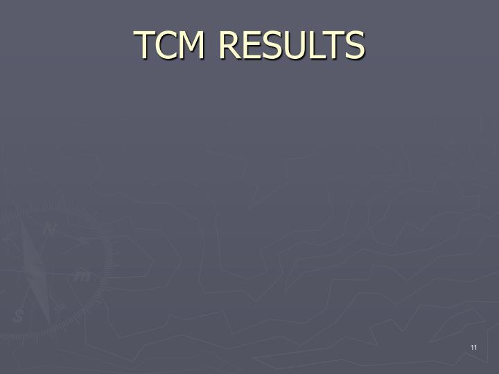 TCM RESULTS