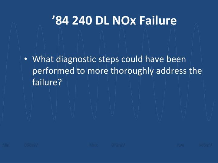 '84 240 DL NOx Failure