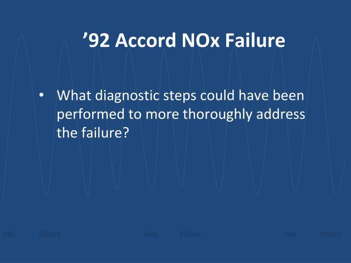 '92 Accord NOx Failure