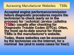 accessing manufacturer websites tsbs