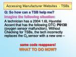 accessing manufacturer websites tsbs1